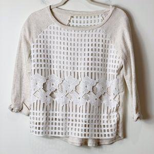 🍒Anthropologie Postmark Sweatshirt XS Euc